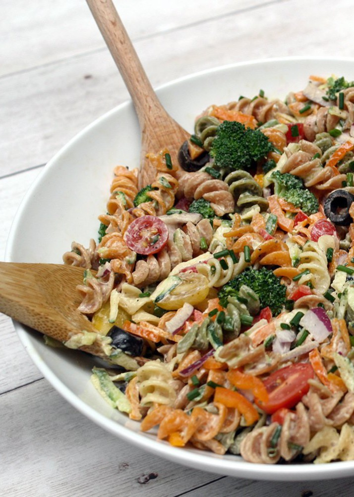 Garlicky Pasta Salad Recipe