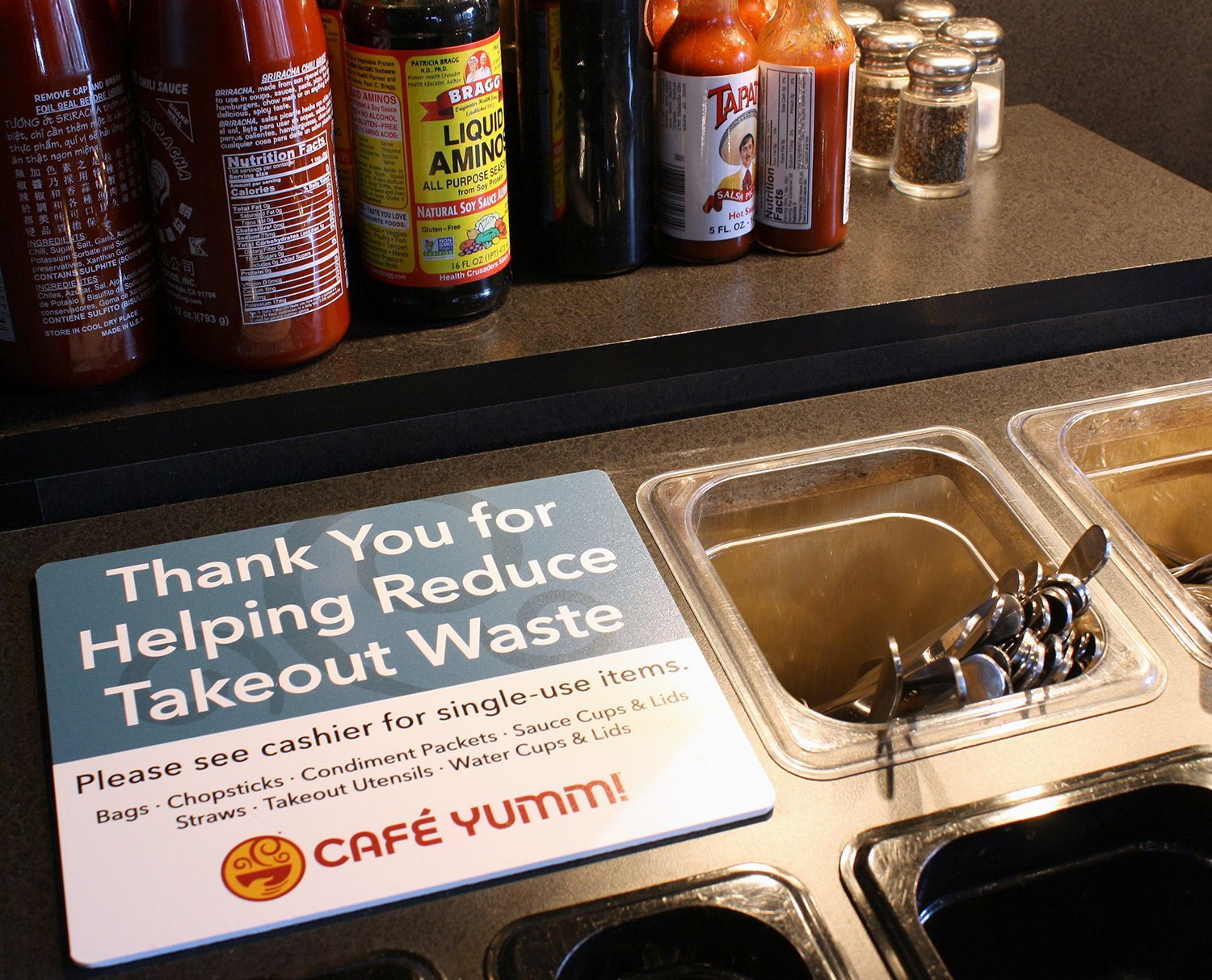 Thank You for Helping Us Reduce Waste