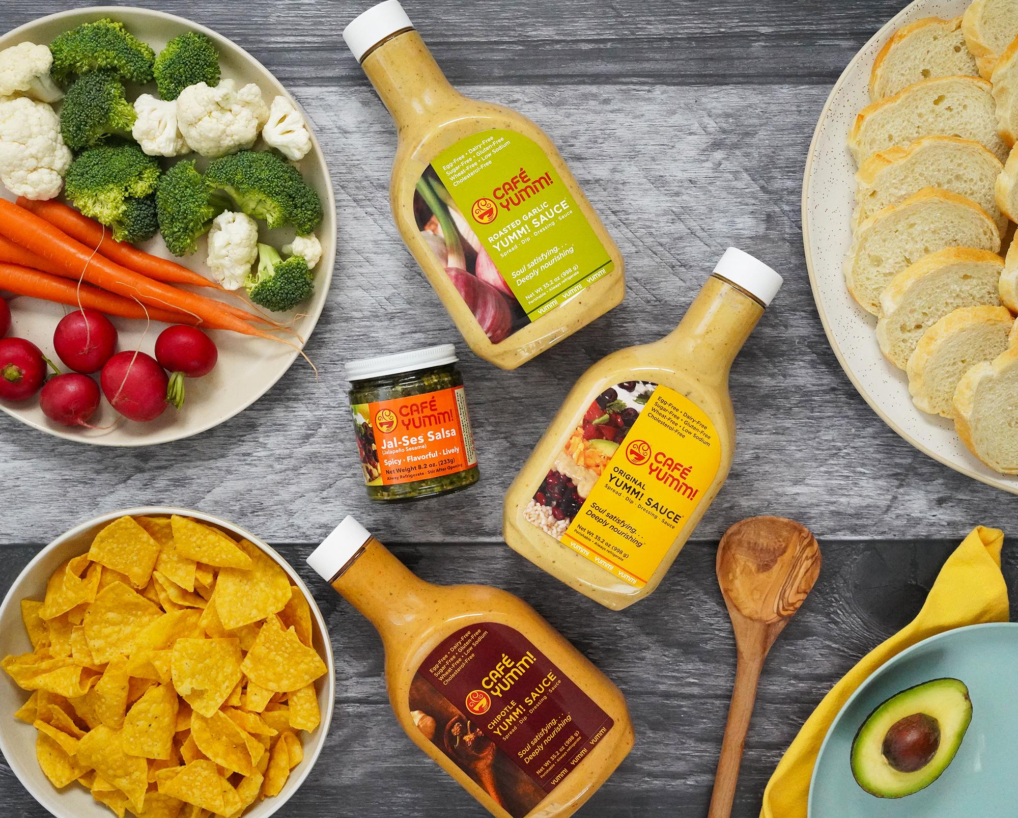 Flavors of Yumm! Sauce and Jalapeno Sesame Salsa